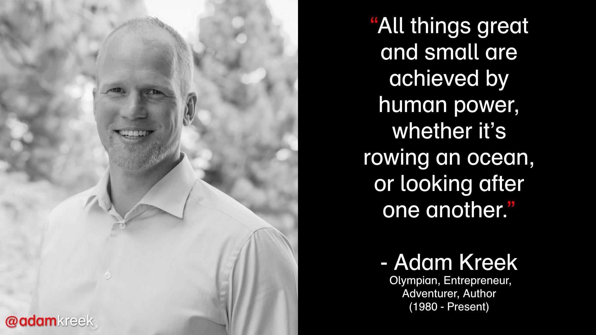 Adam Kreek Human Power